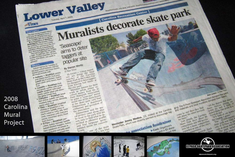 2009 04 07 EPTimes mural article R